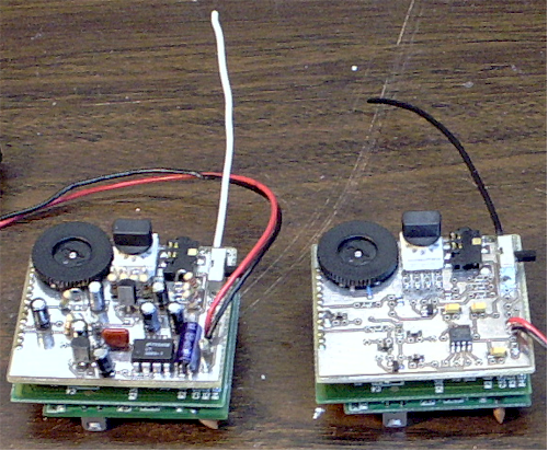 PCBs assembled and mounted to transceivers
